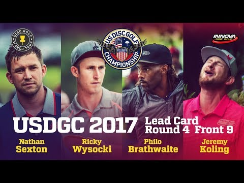 USDGC 2017 Final Round Lead Card Front 9