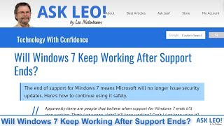 Will Windows 7 Keep Working After Support Ends?