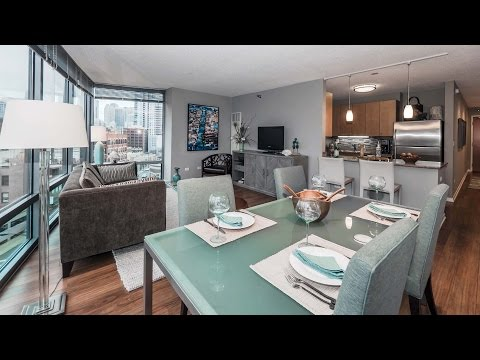 A Spacious 1-bedroom Model At River North's Kingsbury Plaza Apartments