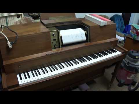 Janssen player piano playing