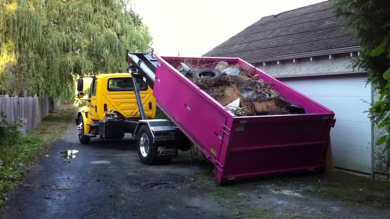 Blitz Disposal International 4300 Roll Off Truck - YouTube