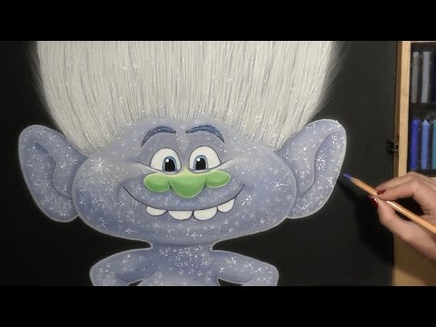Drawing Trolls Guy Diamond Cartoon Character From Trolls Cartoon Soft Pastel