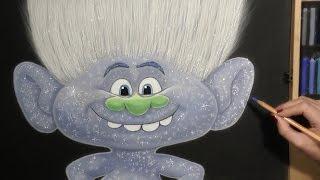 Drawing Trolls (Guy Diamond)  Cartoon Character from Trolls Cartoon. Soft Pastel.(This Speed Drawing video shows How to Draw Guy Diamond Cartoon Character from Trolls Cartoon. Drawing Soft Pastel and other Art Materials. Art Time ..., 2016-11-10T16:02:36.000Z)