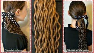 Noodle Curls Tutorial, No Heat Curls