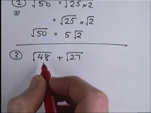 simplest surd form  How To Simplify Surds Part 15.wmv