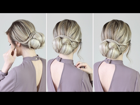 Easy Romantic Updo for Valentine's Day | Luxy Hair Tutorial