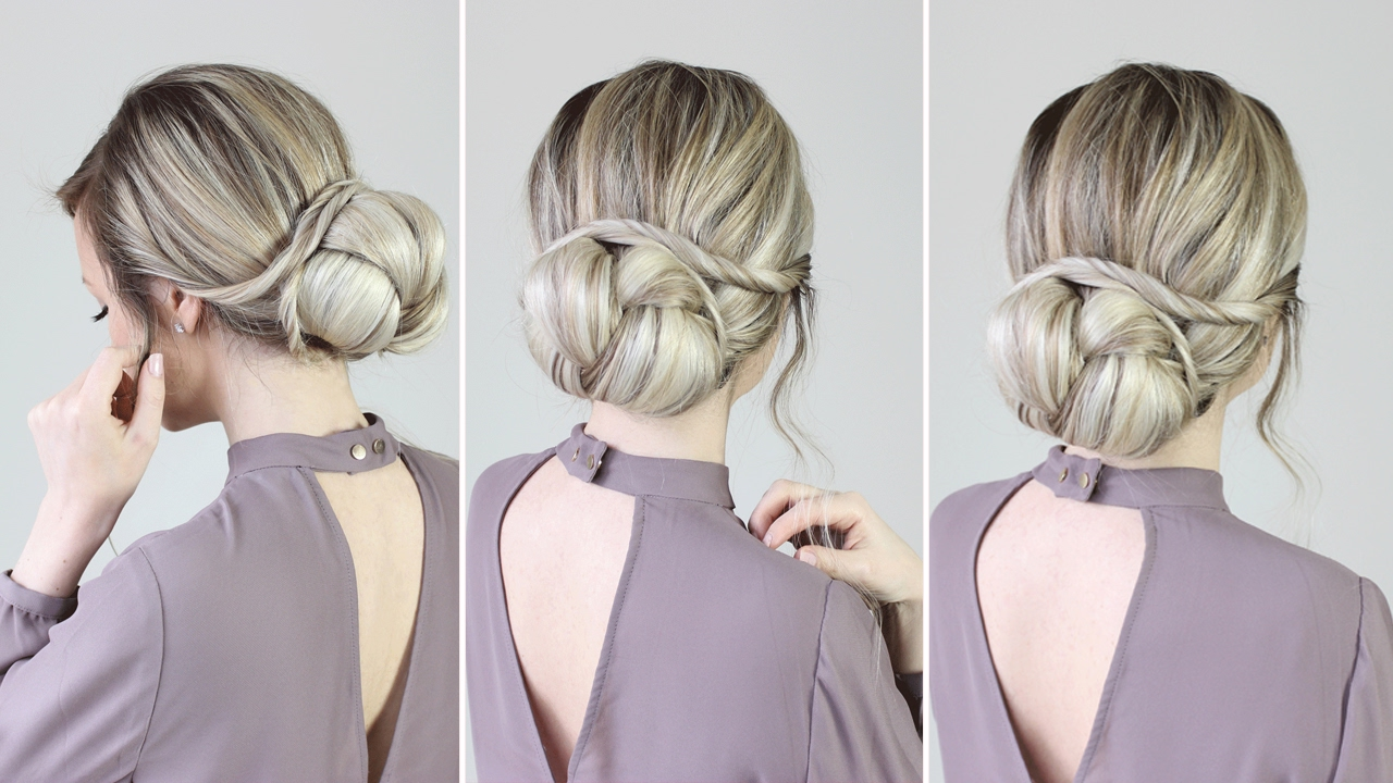 easiest updo ever: super simple for long, medium & short hair