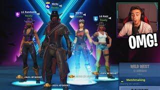 i hit my best trickshot with this UNSTOPPABLE squad! (Randumb, Razz, Gorb)