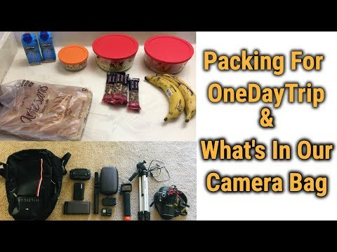 Packing For OneDayTrip In Tamil/Essentials To Carry For A Road trip/What's In Our Camera Bag Vlog#14