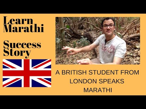 A British Student from London speaks Marathi fluently : Lear