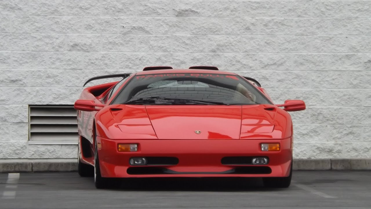 Red Lamborghini Diablo Sv Walk Around Youtube