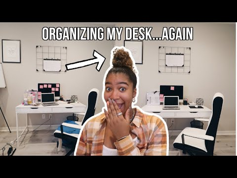 ORGANIZING MY DESK FOR ONLINE SCHOOL | Desk Organization 2020