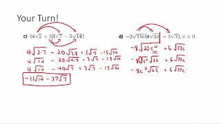 Pre-Calculus 11 - Multiṗlying and Dividing Radicals