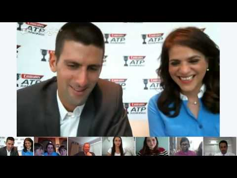 Novak Djokovic G+ Hangout | ATP World Tour | Emirates Airline