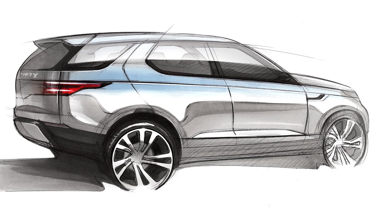Car Design Sketch U0026 Drawing   Land Rover Discovery Vision