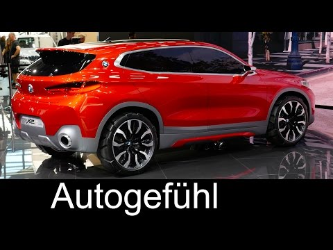 All-new BMW X2 Coupé concept car first look Paris Motor Show Report - Autogefühl