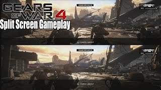 Gears of War 4 Split Screen Multiplayer Gameplay