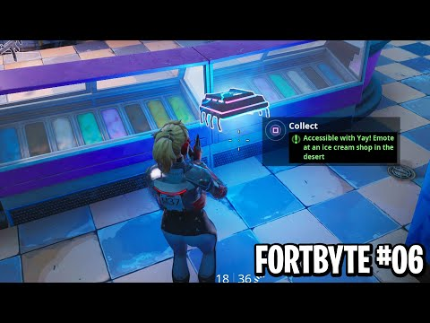 NEW FORTBYTE #06 LOCATION! Accessible With Yay Emote at an Ice Cream Shop in The Desert Location!