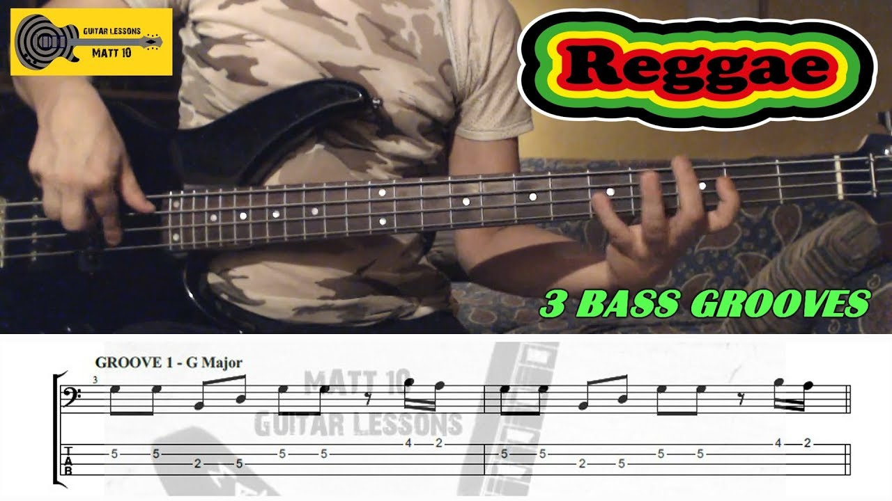 Download REGGAE BASS - 3 BASS Lines / Grooves / Riffs with TABS