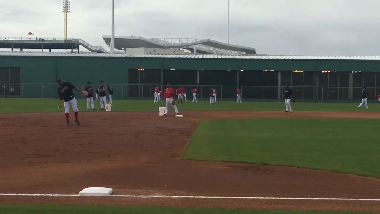 Xander Bogaerts hit with ball that takes bad hop, Dustin Pedroia jokes, 'That's why I got