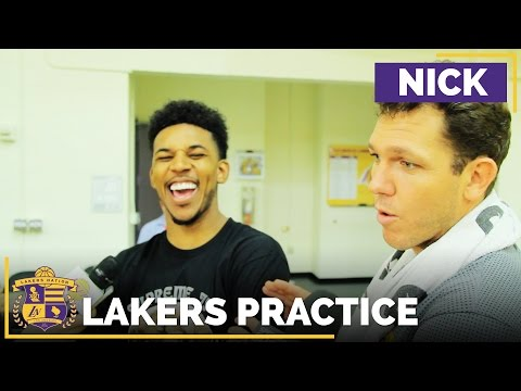 Nick Young Gets Hilariously Interrupted By Luke Walton: 'He Was Awful In Practice!'