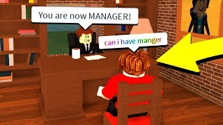 Giving A Bacon Man His DREAM Job.. (Roblox Work At A Pizza Place)