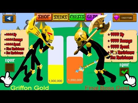 GRIFFON GOLD VS FINAL BOSS GOLD  POWER LEVELS | Stick War Legacy