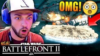 THE CLOSEST GAME EVER! - Star Wars Battlefront 2 Multiplayer Gameplay (Millennium Falcon)