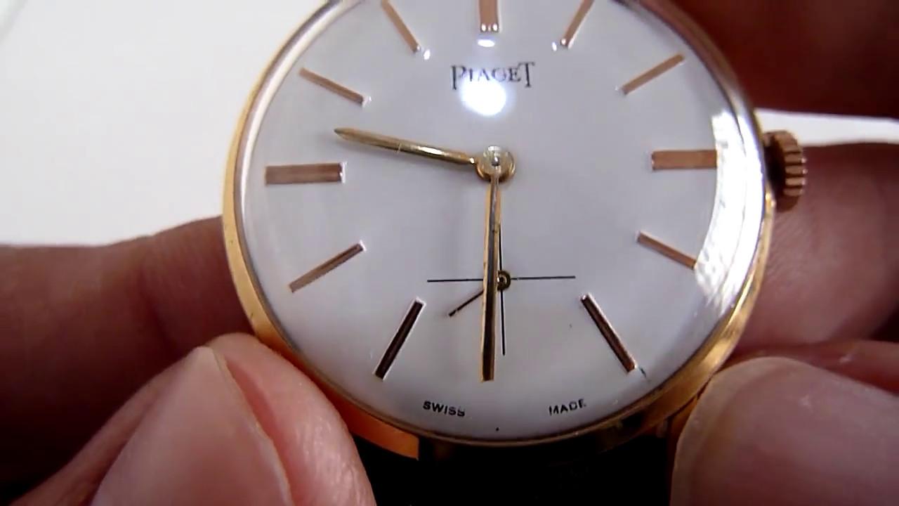 d7276e748628e A LA VENTA) Reloj Piaget Caja De Oro De 18k Tapa De Acero - YouTube