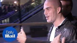 Max George is mobbed by fans at a Miley Cyrus gig - Daily Mail