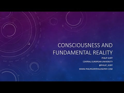 Consciousness and Fundamental Reality - by Prof. Philip Goff