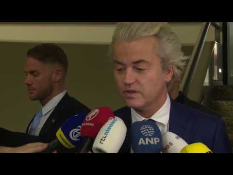 Geert Wilders reageert op de uitslag van de verkiezingen