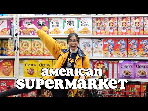 food shopping at an AMERICAN SUPERMARKET | clickfortaz