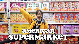 food shopping at an AMERICAN SUPERMARKET   clickfortaz