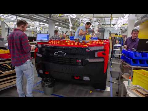 The KiddChris Show - Chevy Truck Built Out of Legos