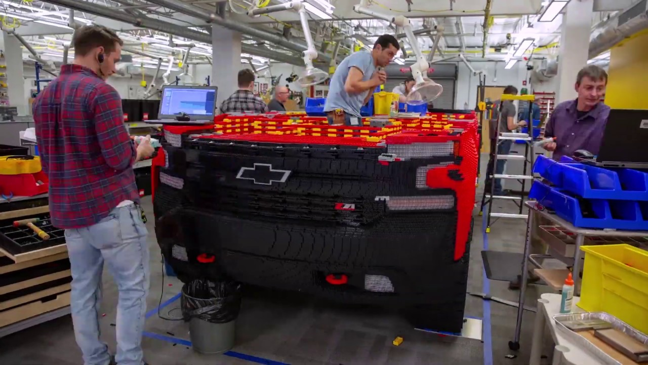 Chevy Built a Full-size LEGO Silverado Pickup