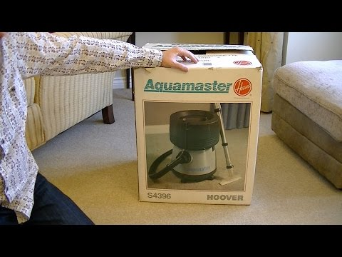 Unboxing a Vintage S4396 Hoover Aquamaster 3 in 1 Vacuum Cleaner