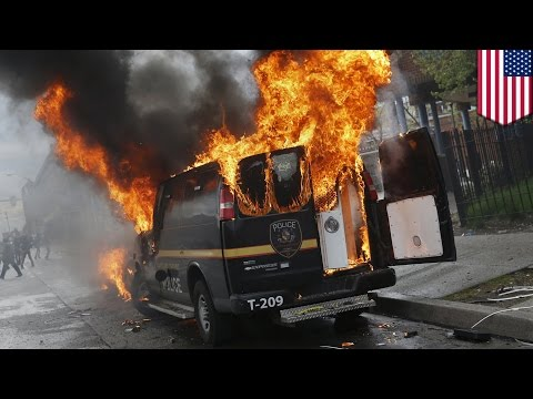 Baltimore protest: governor declares state of emergency as violence escalates