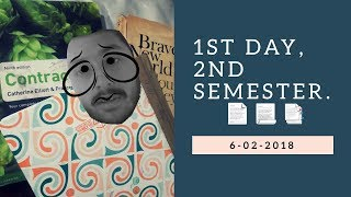 1st day, 2nd semester