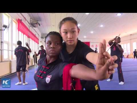 Africans learn Chinese kungfu in Tianjin