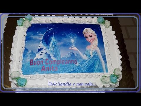 Torta Frozen Con Panna E Cialda In Pasta Di Zucchero Youtube