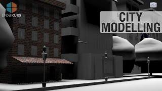 3D Studio Max - Cartoon City Modeling Tutorial