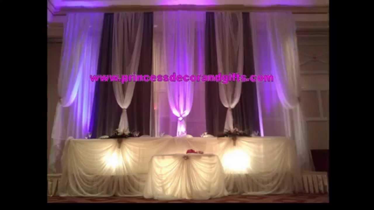 Wedding Backdrop Ideas Princess Decor Youtube