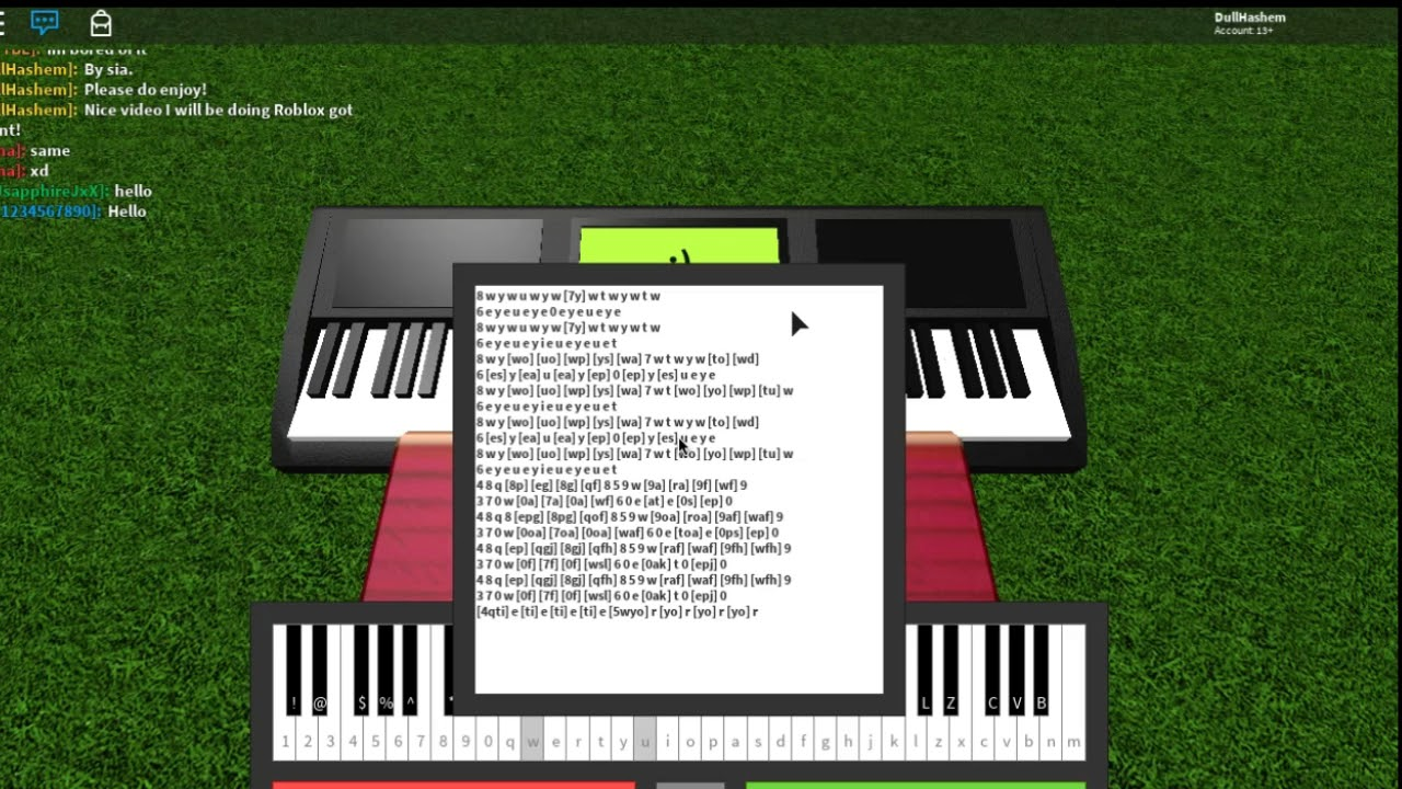 Roblox Piano Titanium Hard Youtube