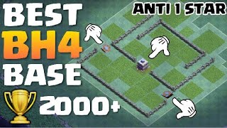 BEST BH4 TROPHY BASE - ANTI 1 STAR ✔️ Builder Hall 4 Anti Giant Base with Replays - Clash of Clans