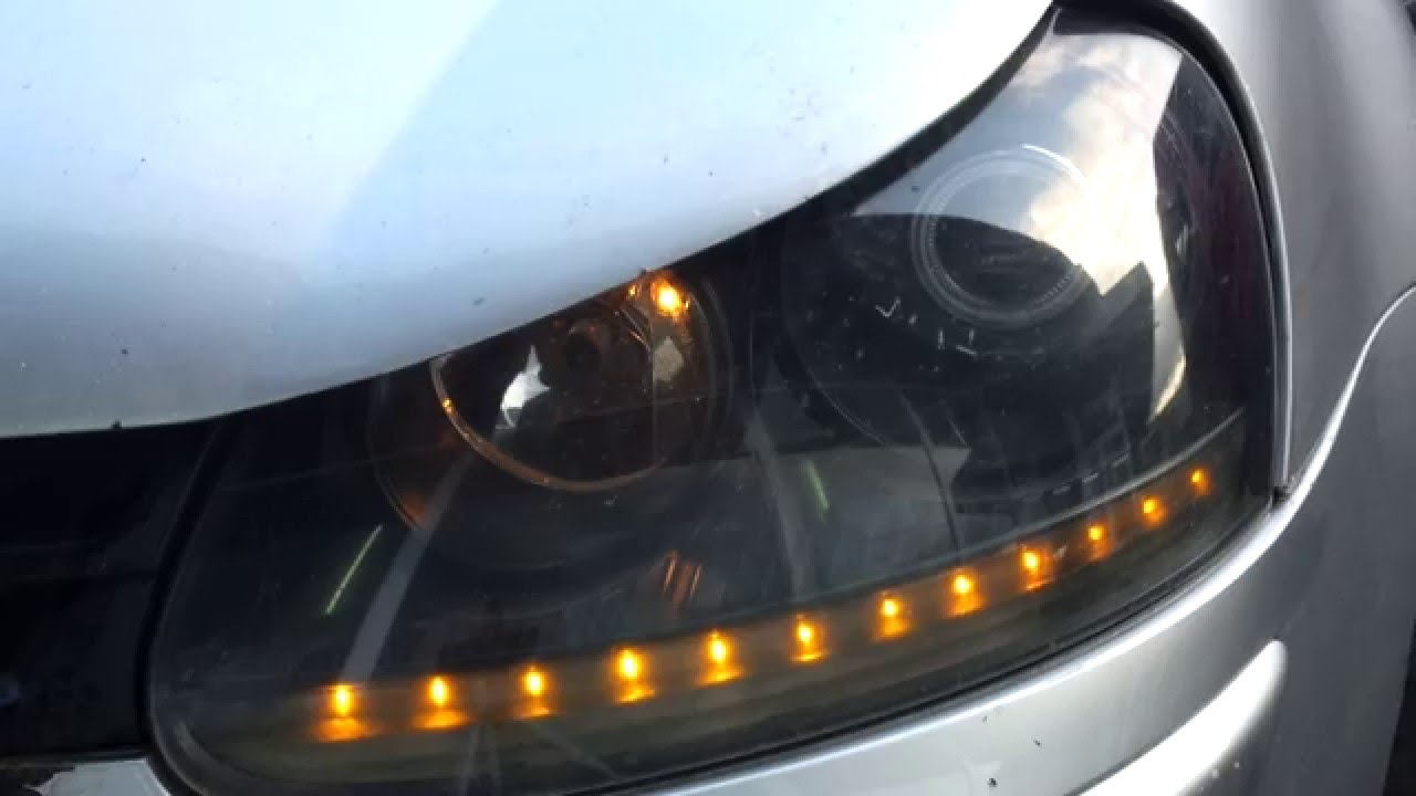 Golf 5 Mkv Rabbit Custom Headlights With Drl Hid And