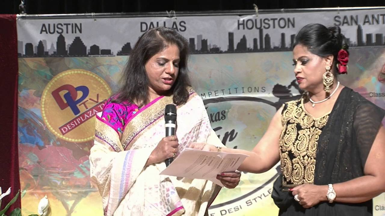 Mrs. Madhavi Reddy recognizing sponsors of Texas Star Kalakaar 2016 on Saturday, June 4, 2016