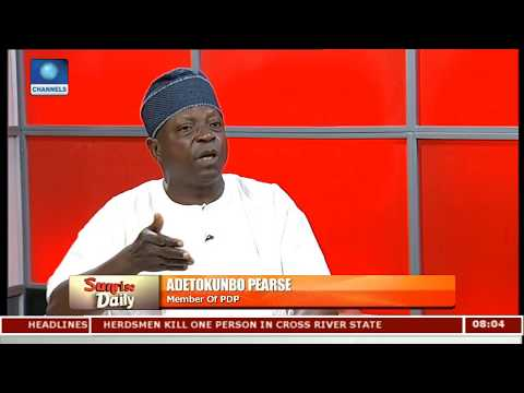 Why Buhari Is Being President Of The North,Not Nigeria-- Pearce |Sunrise Daily|