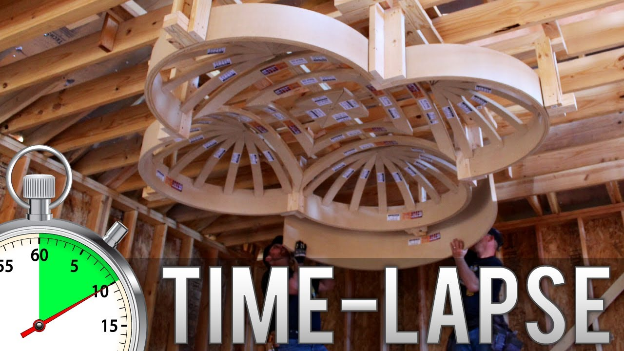Groin Vault Plus 4 Half Dome Ceilings Time Lapse Youtube
