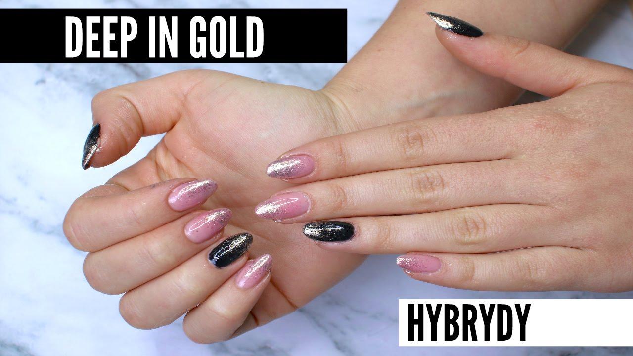 Diy Hybrydy Deep In Gold Brokatowe Ombre Youtube